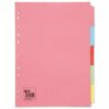 Subject Dividers 5 Part A4 Assorted Colours   Fast UK Delivery   Fusion Office