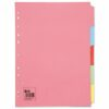 Dividers 5 Part Pack 50 A4 Assorted Colours | Fast UK Delivery | Fusion Office