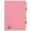 Dividers 10 Part Pack 25 A4 Assorted Colours   Fast UK Delivery   Fusion Office