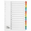 1-15 Index Dividers Coloured Tabs A4 | Fast UK Delivery | Fusion Office