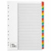 1-31 Index Dividers Coloured Tabs A4 | Fast UK Delivery | Fusion Office