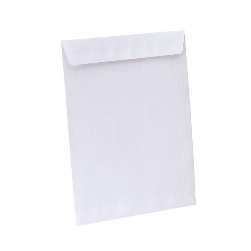 Pocket Envelopes C4 White Peel&Seal 100gsm [Pack 250]     Ideal for posting A4 210x297mm documents   Fusion Office
