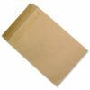 Pocket Envelopes C4 Manilla Plain Self Seal 115gsm [Pack 250] | Ideal for posting A4 210x297mm documents | Fusion Office