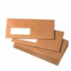 Wallet Envelopes DL Manilla Window Gummed 75gsm [Pack 1000]   Ideal for posting DL 210x99mm documents   Fusion Office