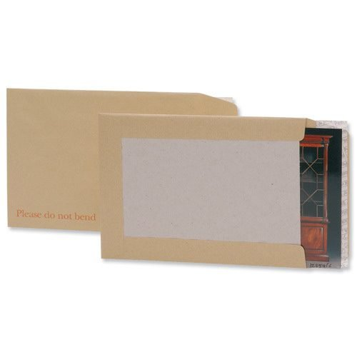 Board Backed Envelopes 457x324mm C3 18x12.75 [Pack 50] | Peel & seal | Printed 'Please do not bend' | Fusion Office