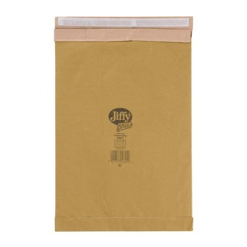Jiffy Green Padded Bag Size 6 Envelopes J/6 Brown JPB-6 [Pack 50] | Fusion Office