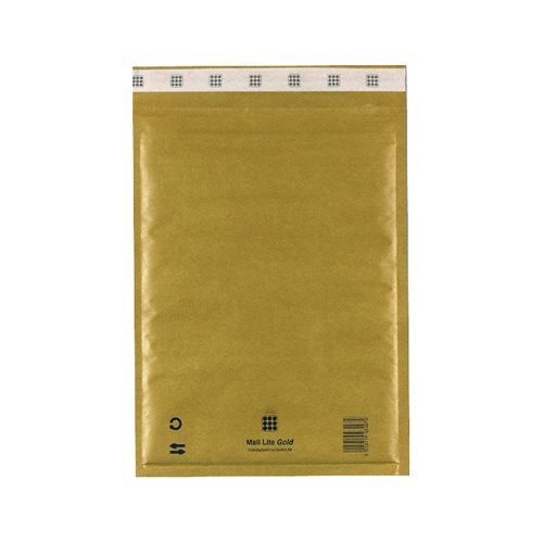 Mail Lite Gold D/1 Bubble Bag Lined Envelopes 180x260 [Pack 100] MLG1 | Fusion Office