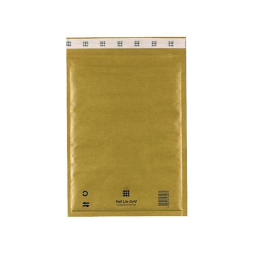 Mail Lite Gold G/4 Bubble Bag Lined Envelopes 240x330 [Pack 50] MLG4   Fusion Office