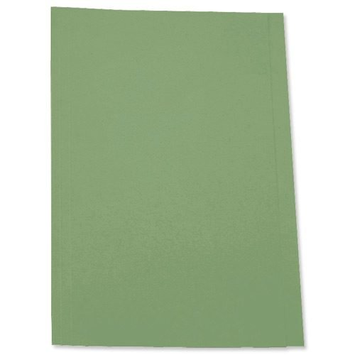 Square Cut Folders Green 180gsm Foolscap [Pack 100] | 180gsm lightweight manilla | 100% recycled & 100% recyclable | Fusion Office