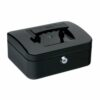 Cash Box 200mm Black | 8 Inches | Steel structure with a high quality spring lock | Complete with two keys | Fusion Office