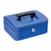 Cash Box 200mm Blue   8 Inches   Steel structure with a high quality spring lock   Complete with two keys   Fusion Office