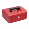 Cash Box 200mm Red | 8 Inches | Steel structure with a high quality spring lock | Complete with two keys | Fusion Office