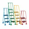 Barton Wheelalong 5 Ribbed Steps 937-S013   These steel steps come with retractable sprung castors within a steel hoof   Fusion Office UK