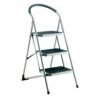 Barton Topstep Foldable 3 Step Ladder SL/3 | These Step Ladders are foldable for easier storage | Working load: 150kg | Fusion Office UK