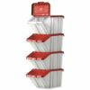 Barton Topstore Multi-functional Containers Red Pack 4 052102/4