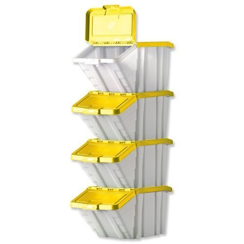 Barton Topstore Multi-functional Containers Yellow Pack 4 052106/4