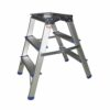 Folding Aluminium Handy Step 3-Tread FS369Z | Strong and sturdy | Large durable platform for safe & comfortable standing | Fusion Office UK