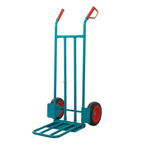 Heavy Duty Sack Truck Folding Toe Plate GI704R | Maximum load capacity: 250kg | Strong riveted knuckle guard handle grips | Fusion Office UK