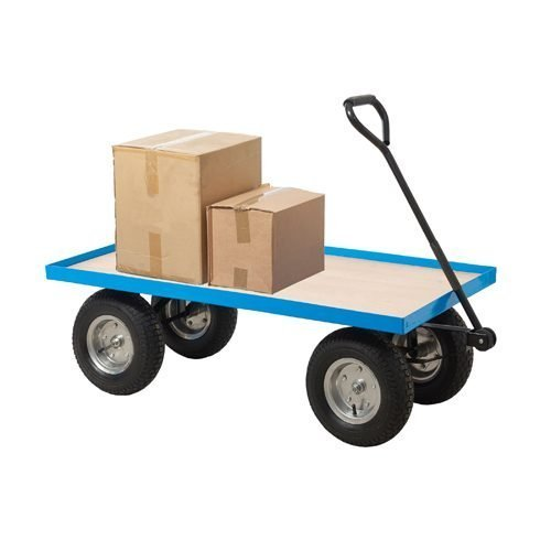 General Purpose Truck Plywood Base TI216R   REACH compliant wheels   1200x600mm platform base   Fusion Office UK