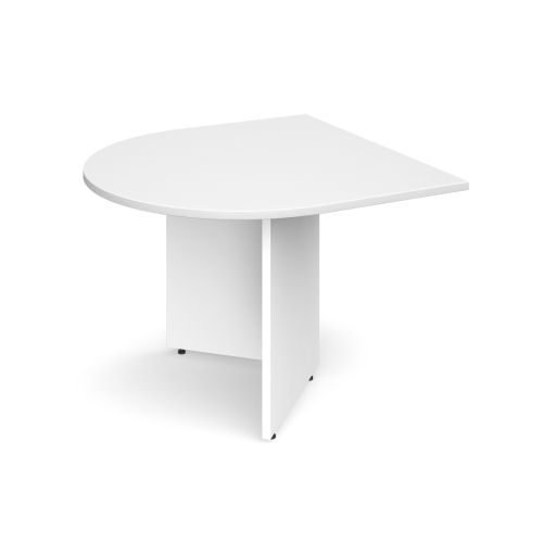 Arrow head leg radial extension table 1000mm x 1000mm White DAMS EB10DWH   Add a meeting area to your existing desk   Fusion Office