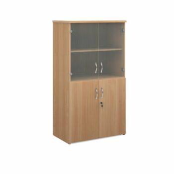 Wood and Glass Storage Units