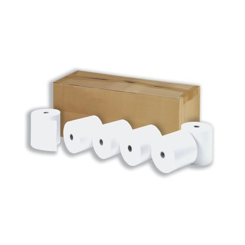 Thermal Credit Card Rolls 57mmx40mm 12.7mm Core [Pack 20]   Produced on quality white paper   Fusion Office - Andover Hampshire