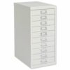 Bisley MultiDrawer 10 Drawers White   Excellent storage capacity   Designed specifically for the small & home office   Fusion Office UK