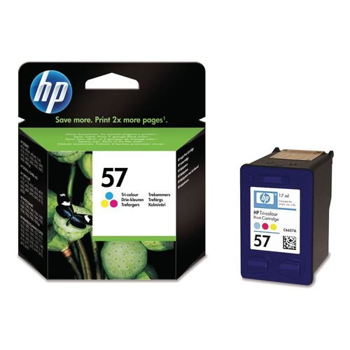 HP 57 Tri-Colour Ink Cartridge C6657AE   Original Authentic HP - Hewlett Packard   Great Everyday Pricing   Fusion Office