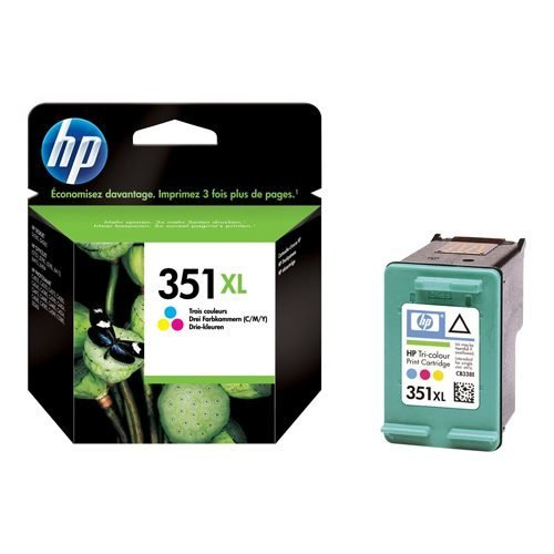 HP 351XL Tri-Colour Ink Cartridge CB338EE   Original Authentic HP - Hewlett Packard   Great Everyday Pricing   Fusion Office UK