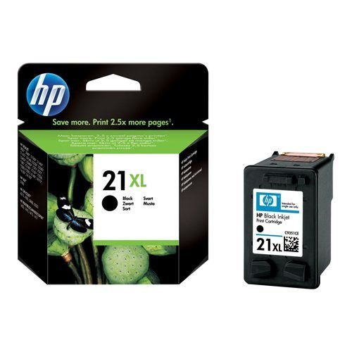 HP 21XL Black Ink Cartridge C9351CE   Original Authentic HP - Hewlett Packard   Great Everyday Pricing   Fusion Office