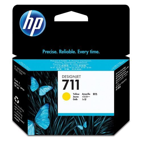 HP 711 Yellow Ink Cartridge CZ132A | Original Authentic HP - Hewlett Packard | Great Everyday Pricing | Fusion Office UK