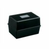 Card Index Box 5x3 Inch 127x76mm Black   To fit cards 127x76mm   Manufactured from high gloss polystyrene   Fusion Office