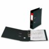 Lever Arch File A4 Black Polypropylene Covered [Pack 10]   Strong thick board with plastic covering   Fusion Office