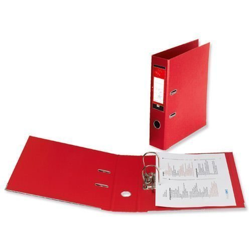 Lever Arch Files Red Foolscap Polyprop Covered [Pack 10] | Strong thick board with plastic covering | Fusion Office