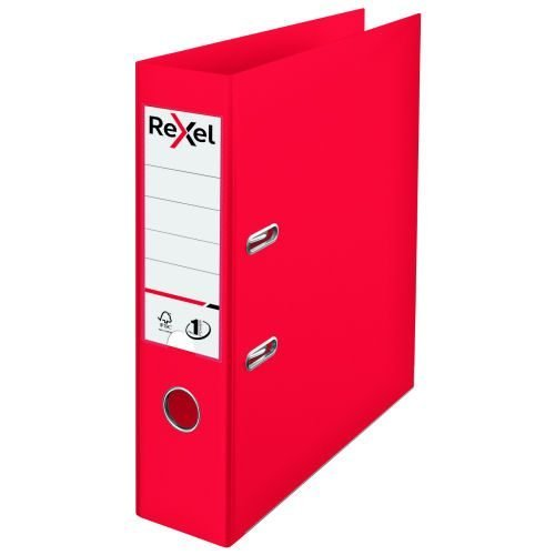Rexel Choices Lever Arch File Red 75mm A4 2115504 | Patented No.1 mechanism with outstanding locking force | Thumbhole | Fusion Office UK