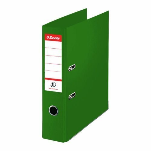 Esselte 50mm Lever Arch File Green A4 PP 811460 [Pack 10] | No.1 VIVIDA | FSC® certified board covered with polypropylene | Fusion Office UK