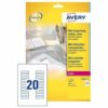 Avery L7552-25 Laser Address A4 Labels 20 per Page 55x12.7 Clear [25 Sheets]