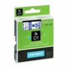 Dymo D1 Tape for Electronic Labelmakers 12mmx7m Blue on White Ref 45014 S0720540 | Authentic DYMO | Fusion Office