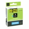 Dymo D1 Tape for Electronic Labelmakers 19mmx7m Black on Yellow Ref 45808 S0720880 | Authentic DYMO | Fusion Office