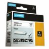 DYMO Industrial Rhino Label Tape Vinyl 19mm Black on White 18445 S0718620 | Developed for heavy duty environments | Fusion Office