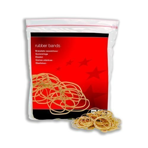 Rubber Bands 1.5x76mm No.18 454g / 1lb | Contains 80% pure rubber taken from sustainable resources | Fusion Office
