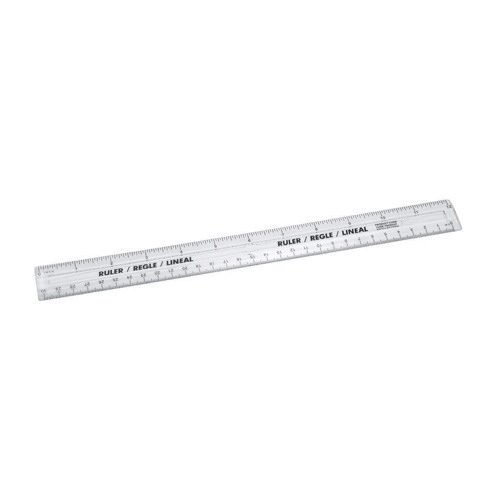 Clear Plastic Rulers 300mm [Pack 20] | Metric and imperial markings | Made from clear plastic | Fusion Office