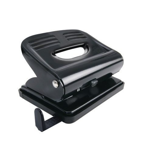 Hole Punch 2 Holes Black   Great as an office desktop perforator   Will punch up to 20 sheets of paper   Fusion Office