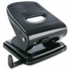 Hole Punch Standard 2 Holes Black | Great as a desktop perforator | Will punch up to 30 sheets of paper | Fusion Office
