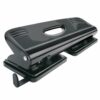 Hole Punch 4 Holes Black | Everyday Use | Great as a desktop perforator | Will punch up to 16 sheets | Fusion Office