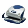 Rexel Precision 225 2-Hole Punch Silver/Blue 2100744 [25 Sheets] | Premium metal 2 hole punch for effortless punching | Fusion Office UK
