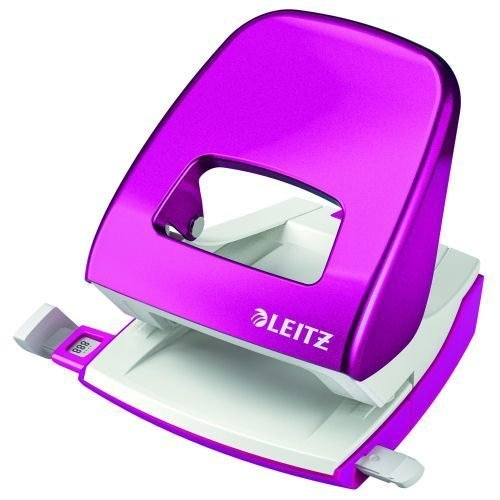 Leitz NeXXt WOW Hole Punch Pink [30 Sheets] 50081023 | Punches up to 30 sheets of paper (80gsm) | 10 year guarantee | Fusion Office UK