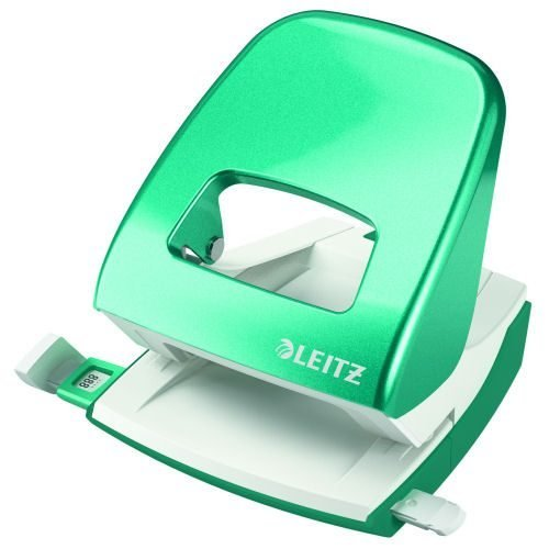 Leitz NeXXt WOW Hole Punch Ice Blue [30 Sheets] 50081051 | Punches up to 30 sheets of paper (80gsm) | 10 year guarantee | Fusion Office UK