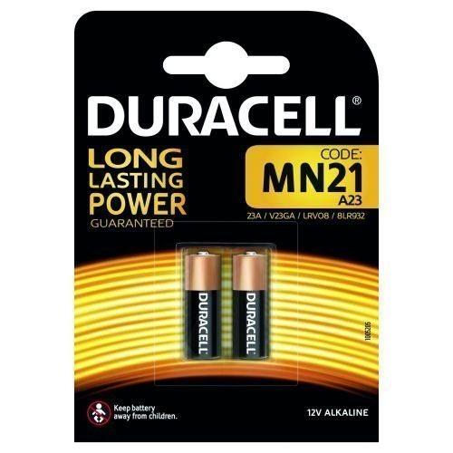 Duracell MN21 2 Batteries LRV08 V23GA 1.2V   Use in wireless remote controls, wireless doorbells and security systems   Fusion Office UK