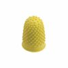 Finger Cones Large Yellow Size 2 [Pack 10] | Thimblettes | Made of fine quality rubber | Great for counting | Fusion Office